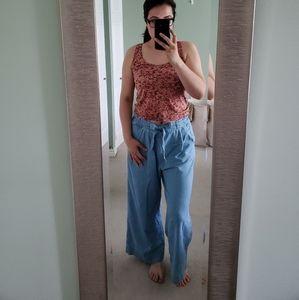 H&M Cotton blend wide leg pants size 8